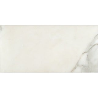 "MSI TCALAGOLD612P  12"" x 6"" Rectangle Wall & Floor Tile - Smooth Marble Visual - Sold by Carton (5 SF/Carton) - Polished"