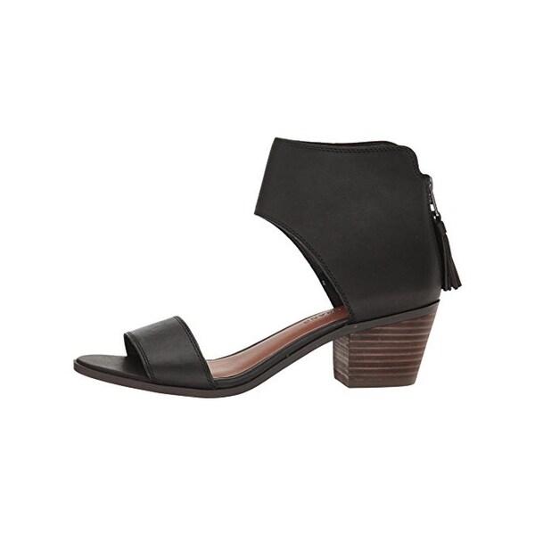 Lucky Brand Womens Barbina Block Heels Open Toe Ankle