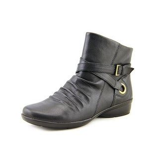 Naturalizer Cycle WW Round Toe Leather Ankle Boot