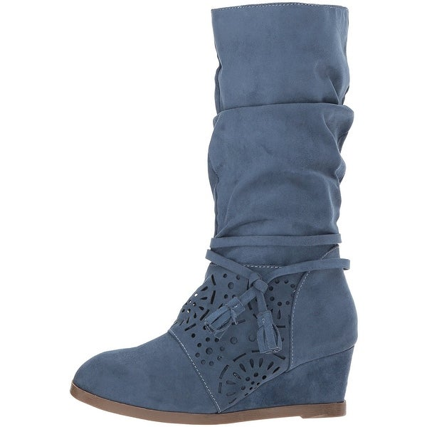 Jessica Simpson Womens Monterey Suede Closed Toe Mid-Calf Fashion Boots - 5