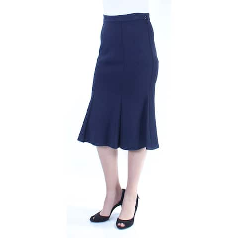 ST JOHN Womens Navy Below The Knee Mermaid Skirt Size: 4