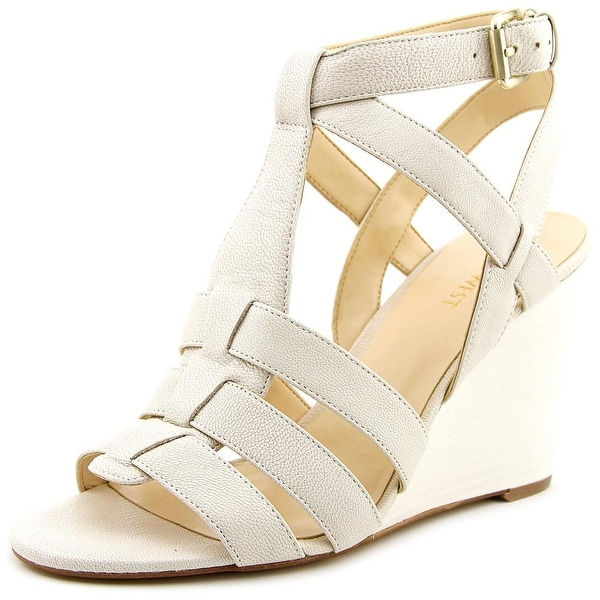 Nine West Farfalla Open Toe Leather Wedge Sandal