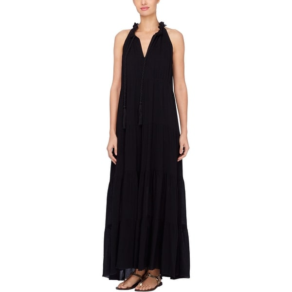 426ea7cc0a9 Shop Catherine Malandrino Womens Maxi Dress Tiered Braided - Free Shipping  Today - Overstock - 21656320