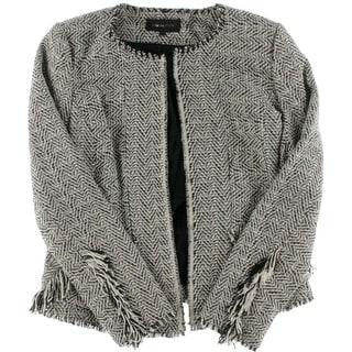 Kobi Halperin Womens Knit Fringe Blazer