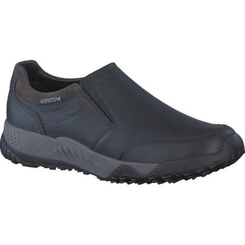 Mephisto Men's Filippo Sneaker Black/Dark Grey Nevada Smooth Leather/Suede