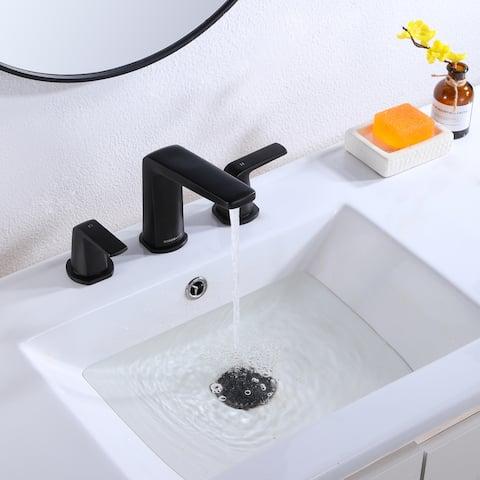 Two Handles Contemporary Widespread Bathroom Sink Faucet - 14.88*7.48*6