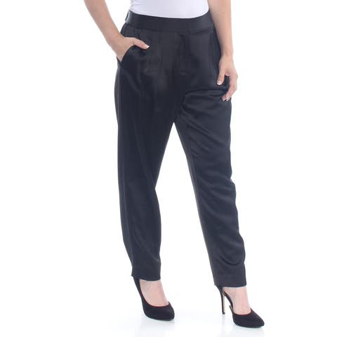 VINCE CAMUTO Womens Black Pocketed Satin Wear To Work Pants Size: 6