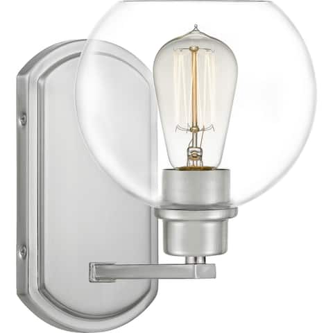 Quinn One Light Bath Brushed Nickel - Exact Size