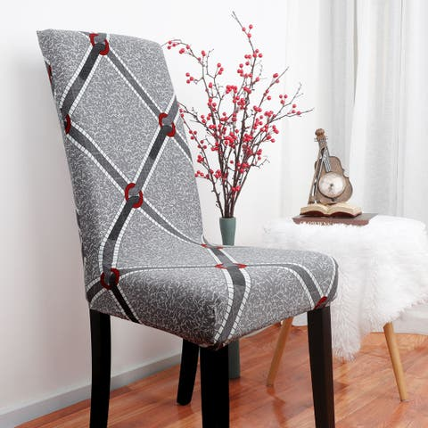 Stretch Washable Short Dining Room Chair Protector Cover - Multi-Color