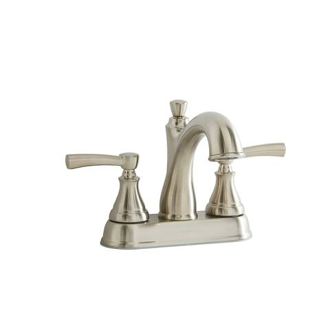 Giagni LL404 Mitchell Centerset Bathroom Faucet with Pop-Up Drain Assembly - Brushed Nickel