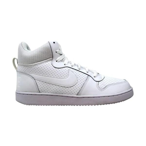 60c752193c980 Shop Nike Court Borough Mid White/White 838938-111 Men's - Free ...