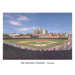 ''Wrigley Field (The Friendly Confines)'' by Ira Rosen Sports/Games Art Print (18 x 24 in.)