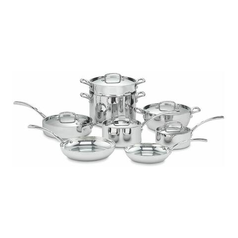 Cuisinart FCT-13 French Classic Tri-Ply Stainless 13-Pc Cookware Set