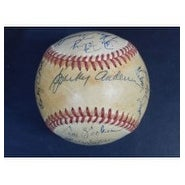 Signed Tigers Detroit 1984 American League Baseball by the 1984 Detroit Tigers Team 27 signatures i