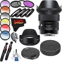 Sigma 24mm f/1.4 DG HSM Art Lens International Version (No Warranty) Professional Accessory Combo