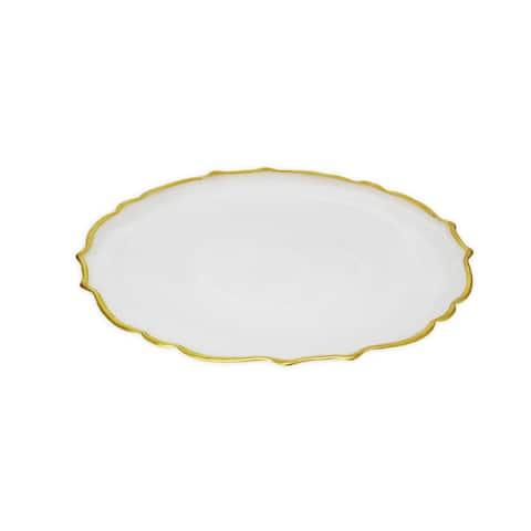 Set of 4 Plates - Alabaster white