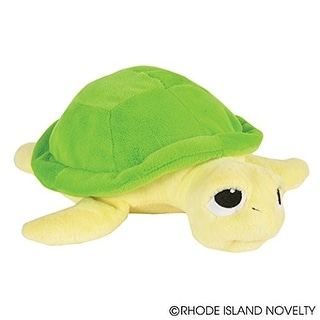 """One Plush Sea Turtle Design Throw Pillow - 11"""""""