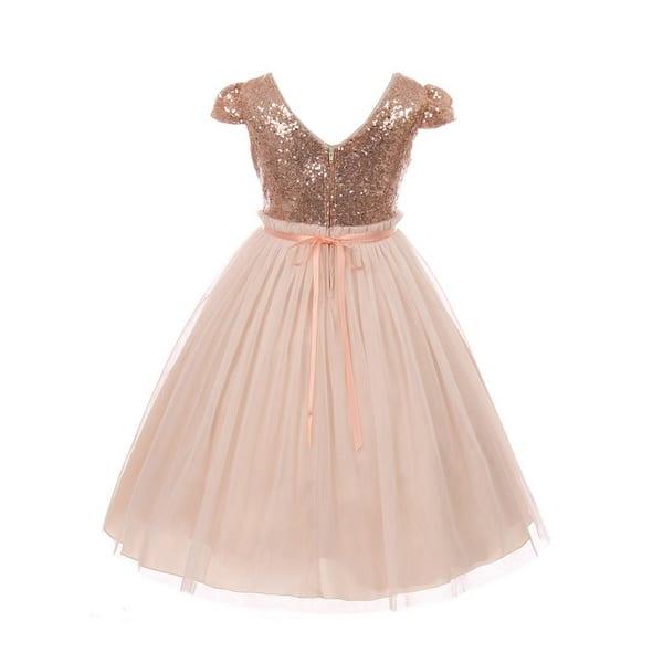 Shop Kids Dream Girls Blush Sequins Tulle Plus Size Easter ...
