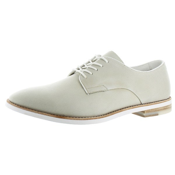 Calvin Klein Men's Agusto Leather Diamond Oxford Shoe