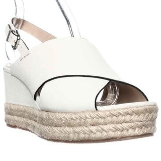 Via Spiga Triana Espadrille Slingback Wedge Sandals - White