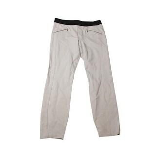 Inc International Concepts Beige Pull-On Zipper-Detail Skinny Pants 12