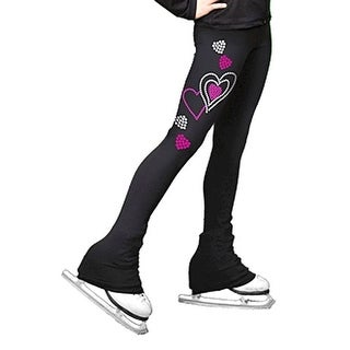 ChloeNoel Fuchsia Hearts Ice Skating Pants Girls 6-12 Adult XS-L