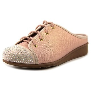Joan Boyce Salli Women Round Toe Canvas Pink Mules