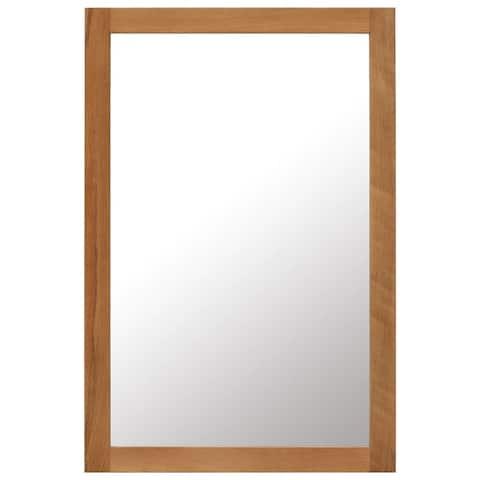 """vidaXL Mirror 23.6""""x35.4"""" Solid Oak Wood"""