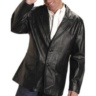 Roper Western Jacket Mens Leather Blazer Black 02-097-0524-0524 BL