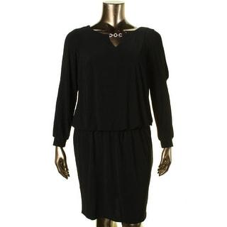 MSK Women Womens Plus Embellished Cold Shoulder Casual Dress