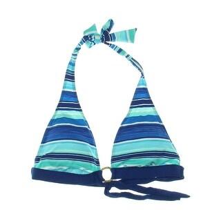 Lauren Ralph Lauren Womens Striped O-Ring Swim Top Separates