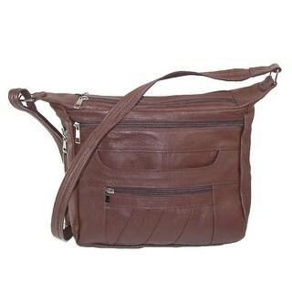 CTM® Women's Concealment Shoulder Bag with Lockable Zipper - One size