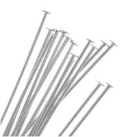 Sterling Silver Head Pins 22 Gauge 1.5 Inch (10)