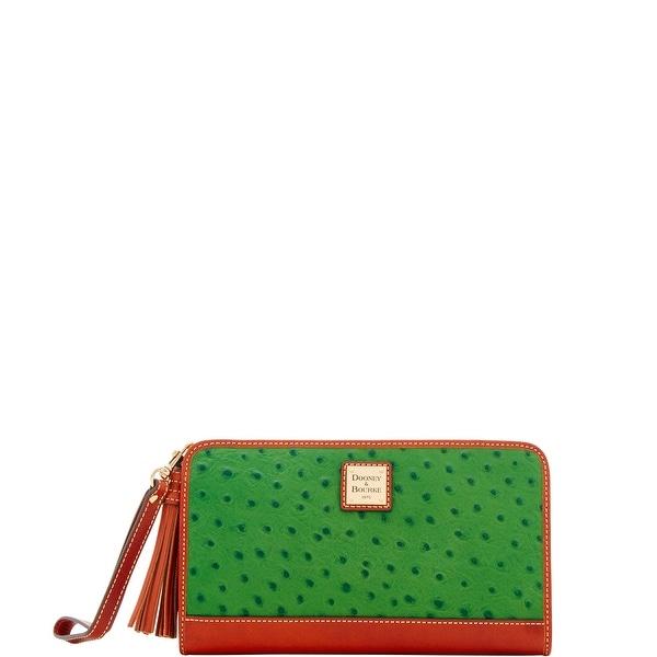 Dooney & Bourke Ostrich Embossed Leather Alice Wristlet Clutch Wallet (Introduced by Dooney & Bourke at $168 in Apr 2018)