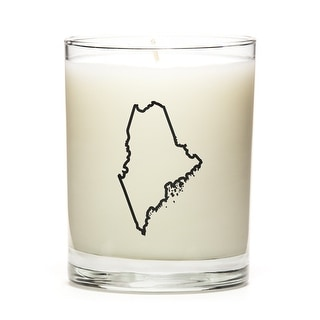 State Outline Soy Wax Candle, Maine State, Fresh Linen