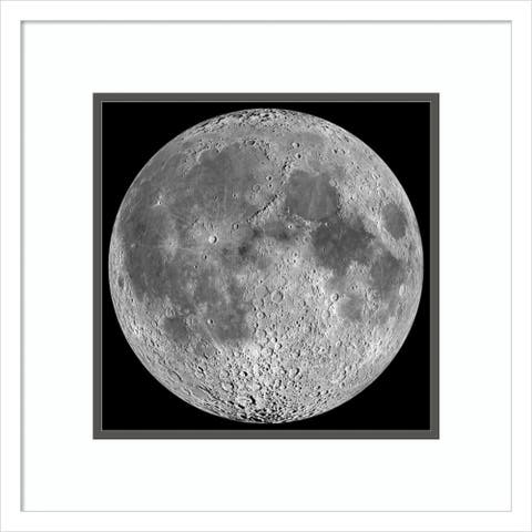 Framed Wall Art Print Moon by NASA 19.00 x 19.00-inch
