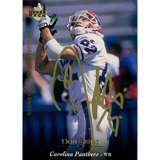Signed Beebe Don Carolina Panthers 1995 Upper Deck Football Card autographed
