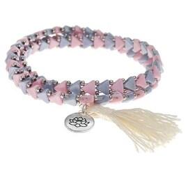 Kheops Wrapped Tassel Bracelet Silver Lotus - Exclusive Beadaholique Jewelry Kit
