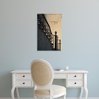 Easy Art Prints Julie Eggers's 'Wrought Iron Railing On Steps' Premium Canvas Art
