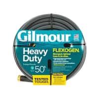 Gilmour 820501 Flexogen Heavy Duty Premium Garden Hose, Flexogen, Grey, 50'