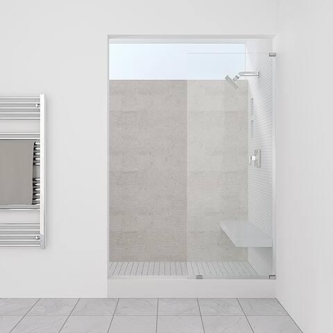 "Symphony Shower Doors 27.50"" x 80"" Single Panel Frameless Shower Screen"
