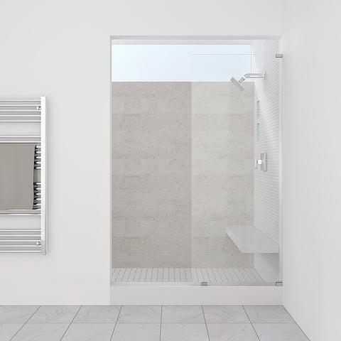 "Symphony Shower Doors 34.25"" x 76"" Single Panel Frameless Shower Screen"