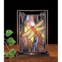 Meyda Tiffany 56831 Stained Glass / Tiffany Specialty Lamp from the Prairie Dragonfly Collection - n/a
