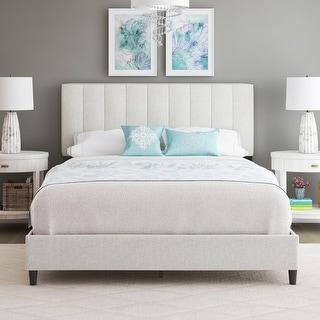 Sleep Sync Leonardo Upholstered Linen Platform Bed Frame