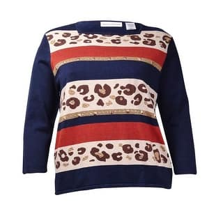 Alfred Dunner Women's Square Neck Studded Striped Knit Top - Multi|https://ak1.ostkcdn.com/images/products/is/images/direct/9255737134e8eb57797797ab6d42f225c2bb34c6/Alfred-Dunner-Women%27s-Square-Neck-Studded-Striped-Knit-Top.jpg?impolicy=medium