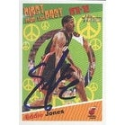 Eddie Jones Miami Heat 2001 Topps Heritage Autographed Card This item comes with a certificate of