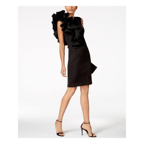 BETSY & ADAM Black Sleeveless Above The Knee Sheath Dress Size 2