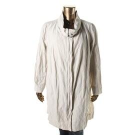 Eileen Fisher Womens Plus Metallic Crinkled Coat - 3X