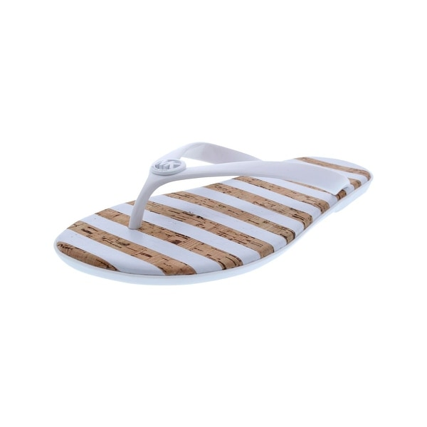 7e944ff5b77f Shop MICHAEL Michael Kors Womens Jet Set Jelly Flip-Flops Striped ...