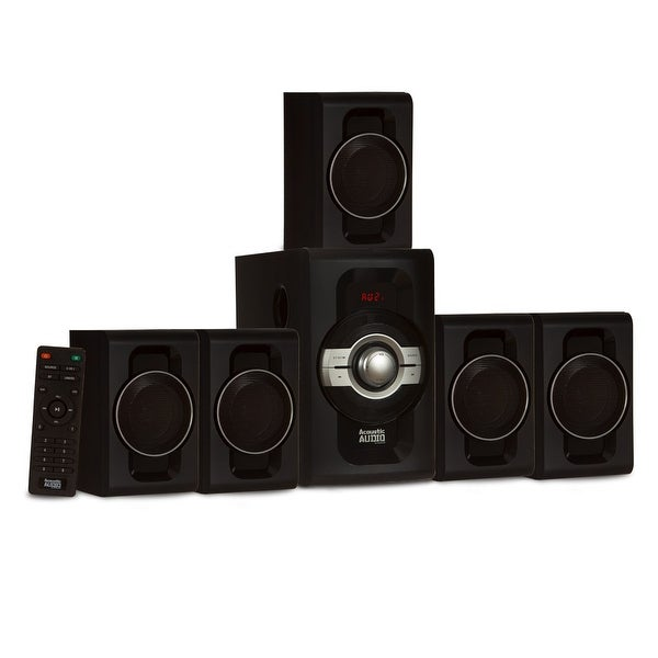 Acoustic Audio AA5240 Home Theater 5.1 Bluetooth Speaker System USB & SD Inputs